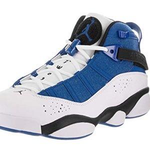Nike Mens Jordan 6 Rings Royal/Black-White Leather